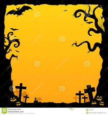 de achtergrond van het kerkhof van halloween royalty vrije stock