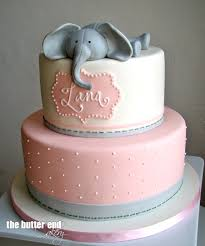 pink and gray baby shower cake u2026 pinteres u2026