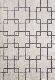 White And Gray Rugs Silky Shag 5901 109 White Area Rug By Dynamic Rugs