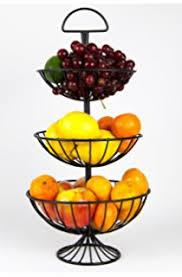 fruit basket stand 3 tier wire basket home kitchen