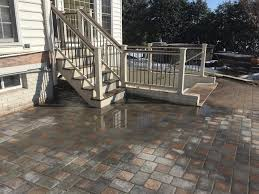 Composite Patio Pavers by Deck Steps American Exteriors U0026 Masonry