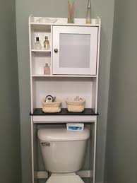 Over The Toilet Etagere Sauder Caraway Space Saver Bathroom Cabinet Soft White Walmart Com