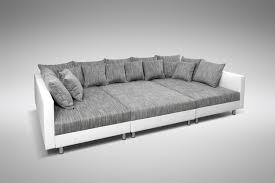 ecksofa xxl ottomane sofa couch ecksofa eckcouch in weiss hellgrau eckcouch mit