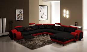 articles with modern grey sofa with chaise tag charming modern black bonded leather sectional sofa with single recliner