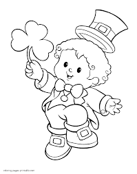 st patrick u0027s day coloring pages shamrock leprechaun pot of gold