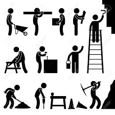 man people working construction carrying building industry