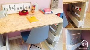 bureau palette bois palettes bois diy tutos recyclage récup meubles bricolage facile