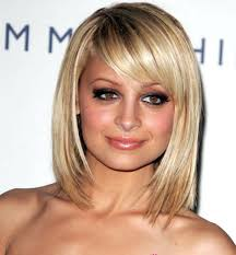 best hairstyles for round faces with bangs women medium haircut