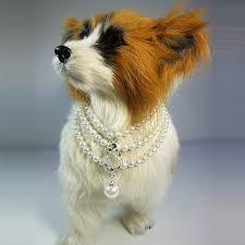 swarovski dog necklace images Nl303 victorian style pearl necklace bowcci designer dog jpg