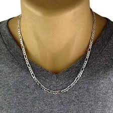 figaro necklace men images Men 39 s 925 sterling silver figaro chain necklace 120 gauge 5 mm jpg