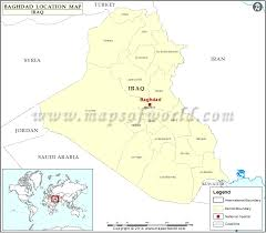 map of bagdad where is baghdad location of baghdad in iraq map