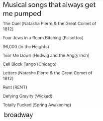 Wicked The Musical Memes - musical songs that always get me pumped the duel natasha pierre