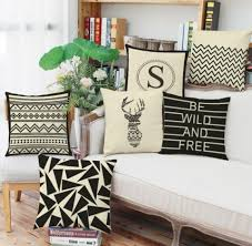 geometric home decor black and white geometric throw pillows for home decor 18 inch