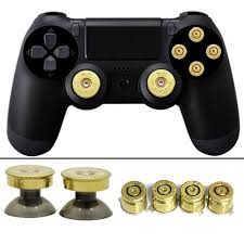how to change the color of ps4 controller light new gold thumbsticks bullet buttons and bullet abxy buttons set for