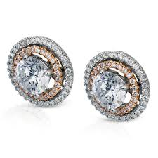 diamond earring jackets me1552 18k white and gold diamond earring jackets from simon