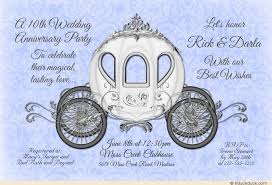 10th year wedding anniversary 10th wedding anniversary party invitation ten years