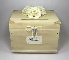 wedding photo box ivory wooden wedding card box trunk vintage shabby chic wedding