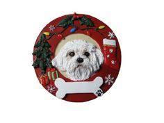 maltese ceramic jolly santa snowflake ornament maltese