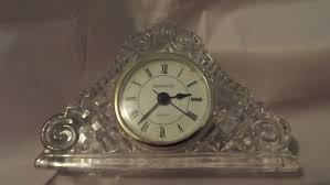 Crystal Mantel Clocks Shannon Crystal Mantel Clock Collectors Weekly