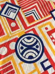 amazing mid century mod vintage fabric over 1 sq yard retro 60s