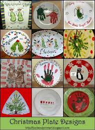handprint u0026 footprint christmas plate designs handprint