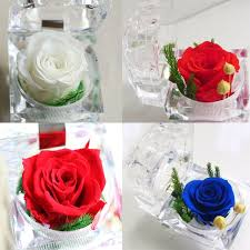 s day flowers gifts decorative preserved flower ring box wedding souvenir