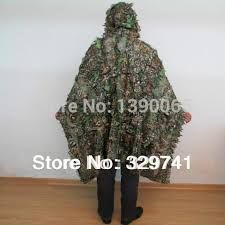 Ghillie Suit Halloween Costume Aliexpress Buy Sniper Tactical 3d Camouflage Woodland Leaves