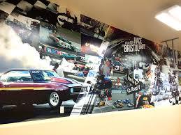 environmental graphics creative color minneapolis minnesota custom garage large wall car mural
