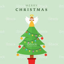 christmas tree angel christmas tree with angel stock vector more images of 2015