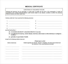 Certification Of Employment Letter Exle Chapter 2 Medical Certificate For 19 Medical Certificate