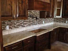 glass tile backsplash santa cecilia granite google search