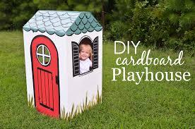 diy cardboard box playhouse project nursery