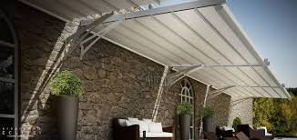 Metal Pergola With Canopy by Wall Mounted Pergola Aluminum Stainless Steel Pvc Fabric