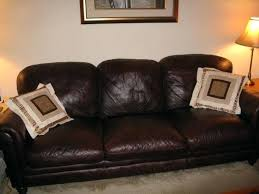 Leather Sofa Used Used Brown Leather Sofa Leather Sofa With Material Cushions