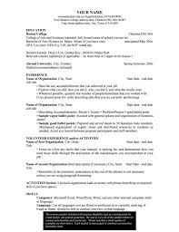Student Resumes For Jobs by Academic Resume Template For College