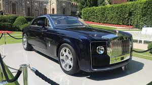 front elevation of the 2017 rolls royce sweptail looks as if it