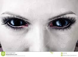 evil black female zombie eyes royalty free stock photos image