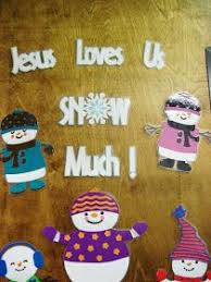 Religious Christmas Door Decorations Christmas Bulletin Board Ideas Jesus Loves You U0027snow U0027 Much