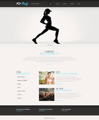 clean fitness wix website template 46260