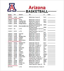 Basketball Stat Sheet Template Excel Hockey Roster Template Arizona Basketball Schedule Template Free