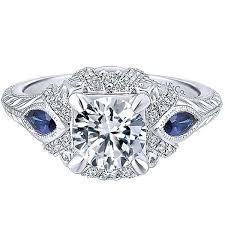 sapphire halo engagement rings gabriel blue sapphire halo engagement ring