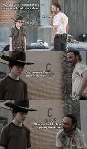 Meme Carl - the walking dead 23 of the funniest rick carl dad jokes smosh