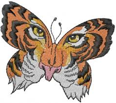 tiger butterfly embroidery designs machine embroidery