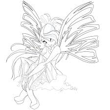 bloom sirenix coloring page 2 by mskittencreations on deviantart