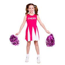 girls pink cheerleader costume party halloween costume
