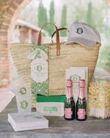 welcome baskets for wedding guests 102 welcome bags from real weddings martha stewart weddings