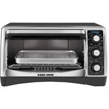 Toaster Oven With Auto Slide Out Rack Black Decker 6 Slice Convection Toaster Oven To1640b Walmart Com