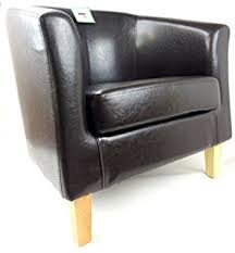 Faux Leather Armchair Uk Black Faux Leather Tub Chair Armchair Club Chair For Dining Living
