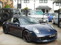 dark green porsche porsche 991 911 targa 4 gts pdk surrey near london hampshire