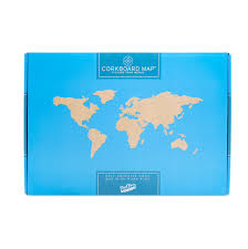 Self Adhesive World Map Decorating World Map Cork Pinboard Bundle By Luckies Notonthehighstreet Com